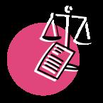 Logo montrant une balance et un formulaire